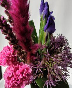 Boeket roze-paars-blauw