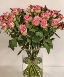 rozen boeket roze