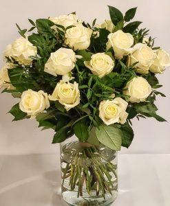 rozen boeket wit